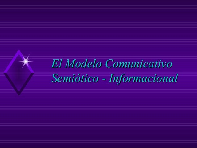 El Modelo Comunicativo Semiótico - Informacional