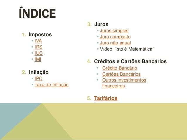 Modelos financeiros Slide 2