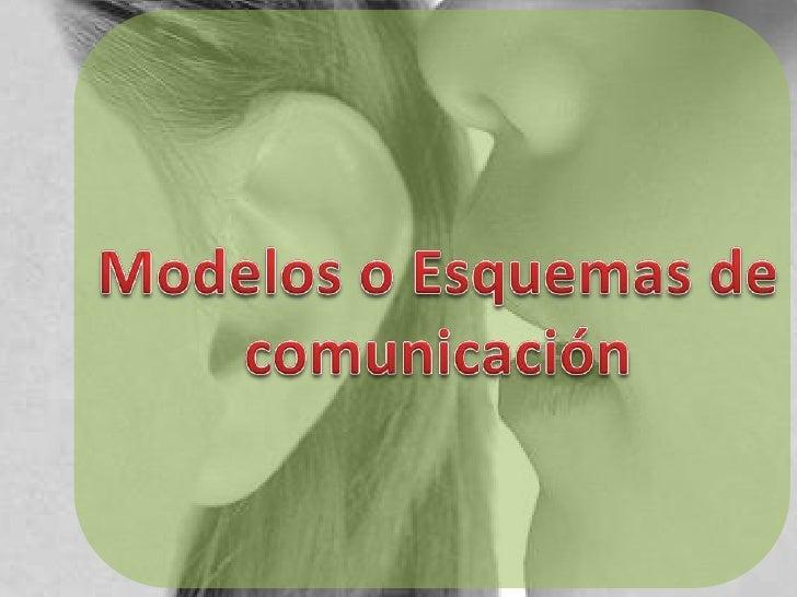Modelos o Esquemas de comunicación<br />