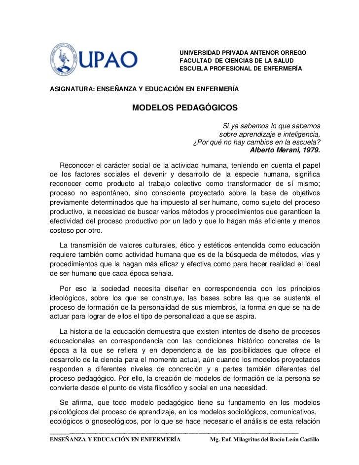 UNIVERSIDAD PRIVADA ANTENOR ORREGO                                        FACULTAD DE CIENCIAS DE LA SALUD                ...
