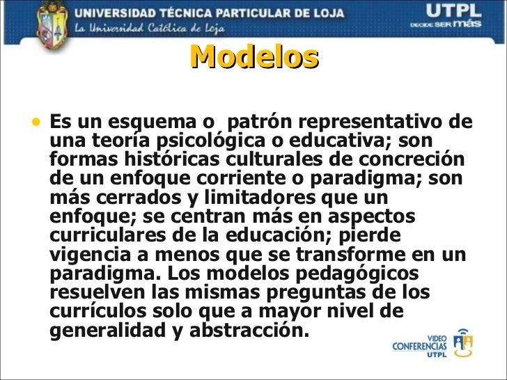 MODELOS PEDAGÓGICOS Y DISEÑO CURRICULAR (Mayo Octubre 2011)