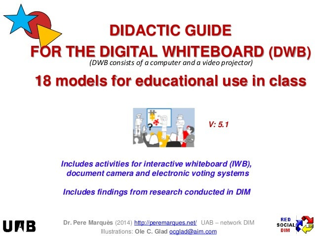 (DWB consists of a computer and a video projector)  Includes activities for interactive whiteboard (IWB), document camera ...