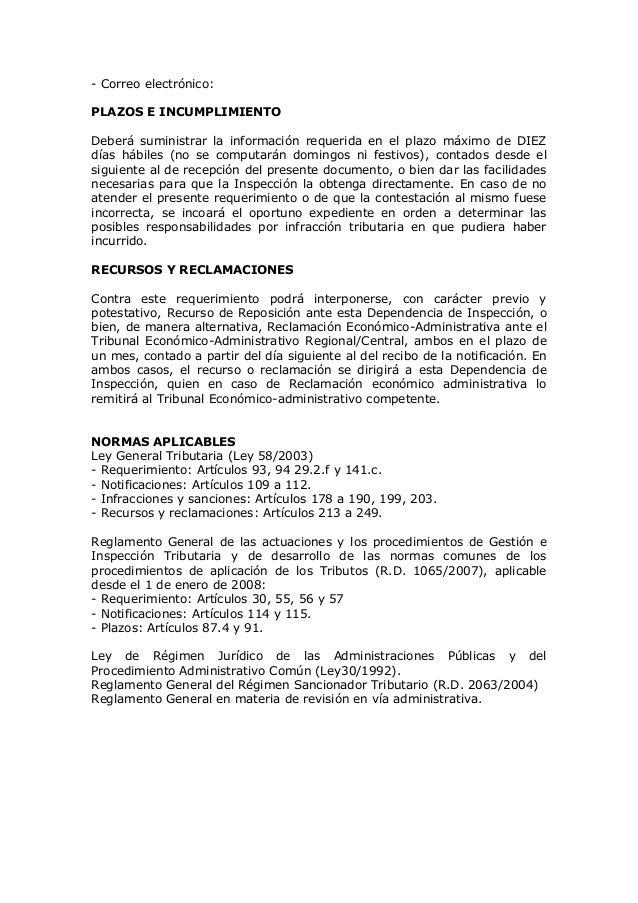 Modelos de requerimientos de informaci n agencia estatal for Oficina virtual de la agencia tributaria