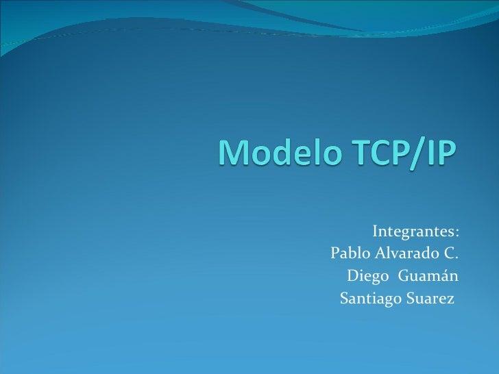Integrantes: Pablo Alvarado C. Diego  Guamán Santiago Suarez