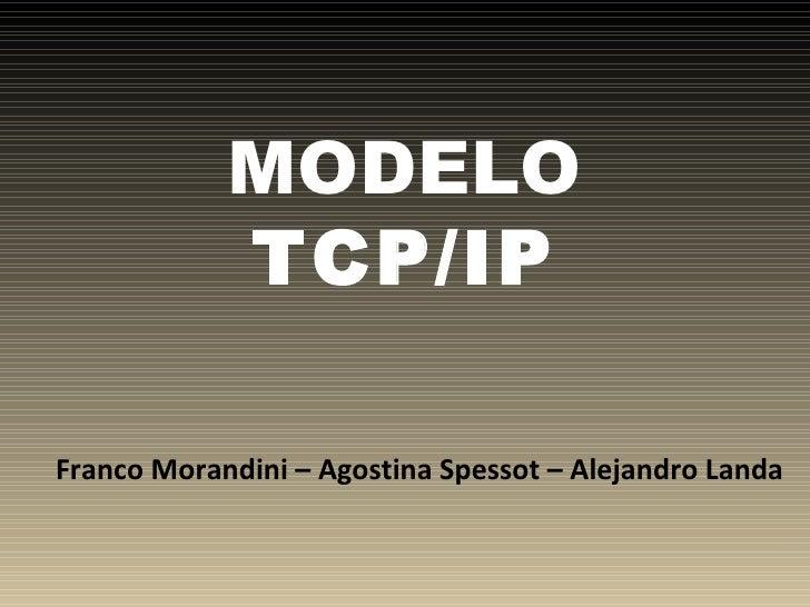 MODELO  TCP/IP Franco Morandini – Agostina Spessot – Alejandro Landa