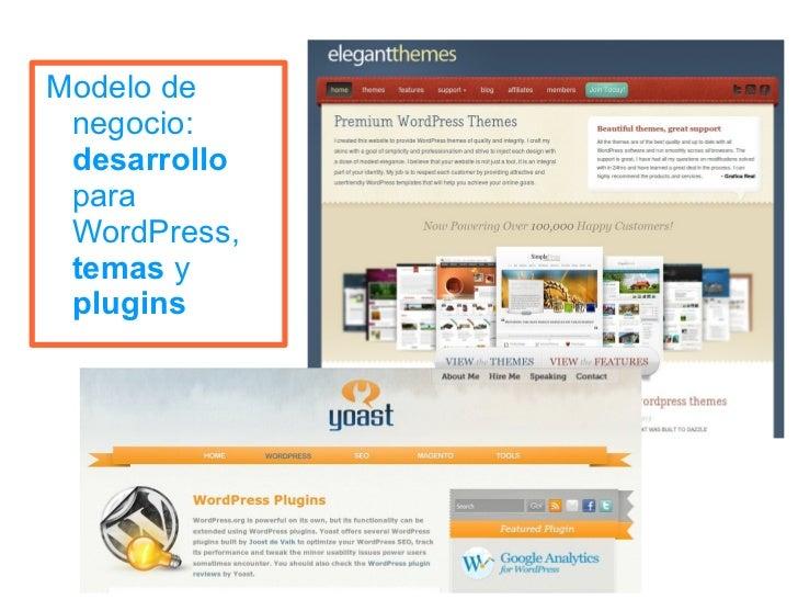 WordPress y los modelos mixtos de desarrollo y negocio