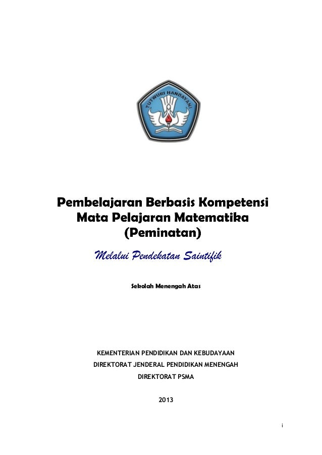 Sekolah Menengah Atas  KEMENTERIAN PENDIDIKAN DAN KEBUDAYAAN DIREKTORAT JENDERAL PENDIDIKAN MENENGAH DIREKTORAT PSMA 2013 ...