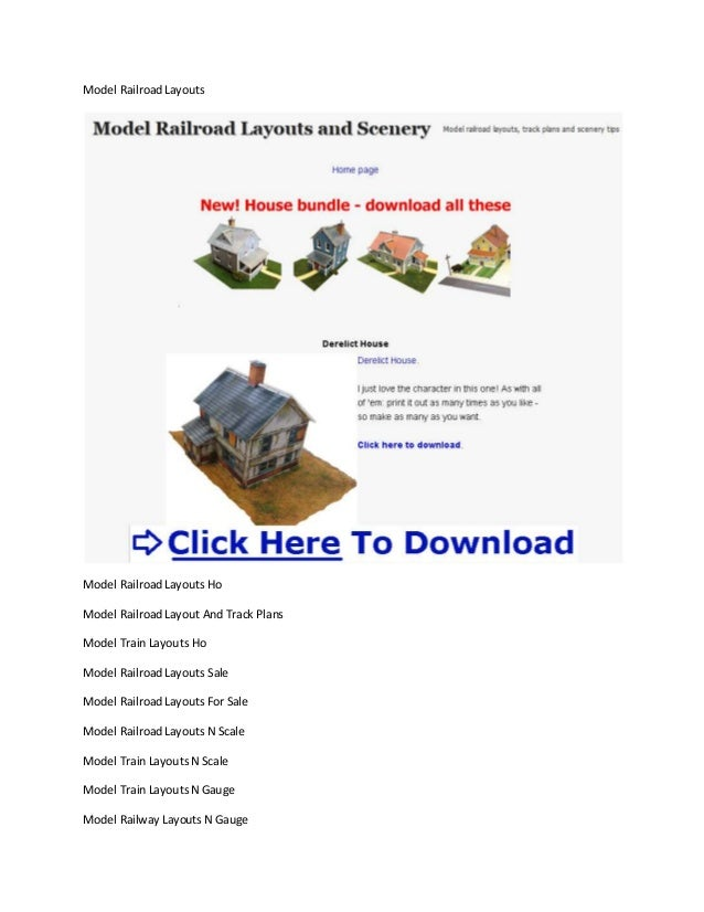 Model Railroad LayoutsModel Railroad Layouts HoModel Railroad Layout And Track PlansModel Train Layouts HoModel Railroad L...