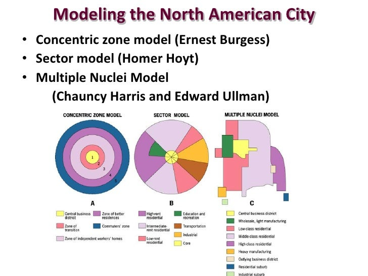 concentric zone theory The concentric zone model , also known as the burgess model or the ccd model , is one of the earliest theoretical models to explain urban social structures it was created by sociologist ernest burgess in 1925 the model based on human ecology theory done by burgess and applied on chicago , it was the first to give the explanation of.