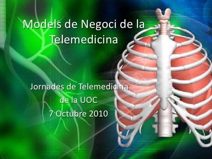 Models de negoci de la telemedicina