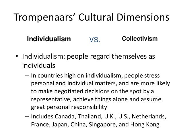 collectivism culture in malaysia Collectivism is a fundamental feature of human nature, and exists in every society to a greater or lesser degree, broadly depending on whether it is high-context (leaning more towards collectivism) or low-context (leaning more towards individualis.