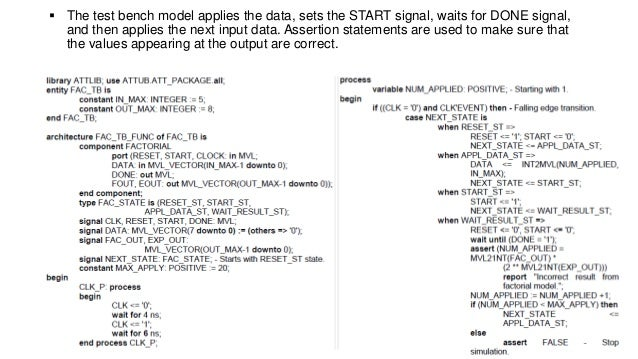 Model Simulation Vhdl