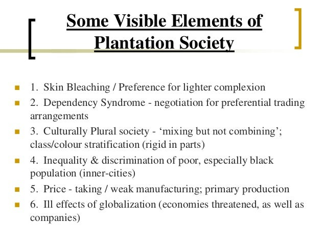 diadvantages of the plural society in the caribbean The plural society debate: some comments on a recent contribution created date: 20160807053923z.