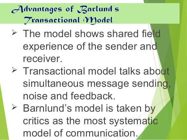 linear model of communication example