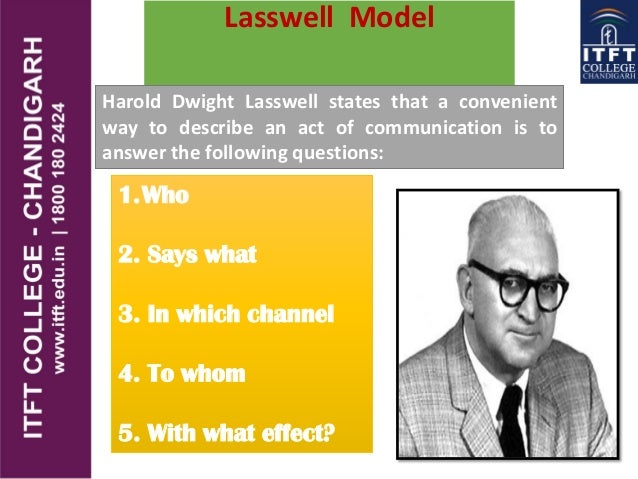 lasswell s model of communication Simplest model of communication reflects the work of shannon and weaver  wilbur schramm's modifications: added to the model the context of the relationship.