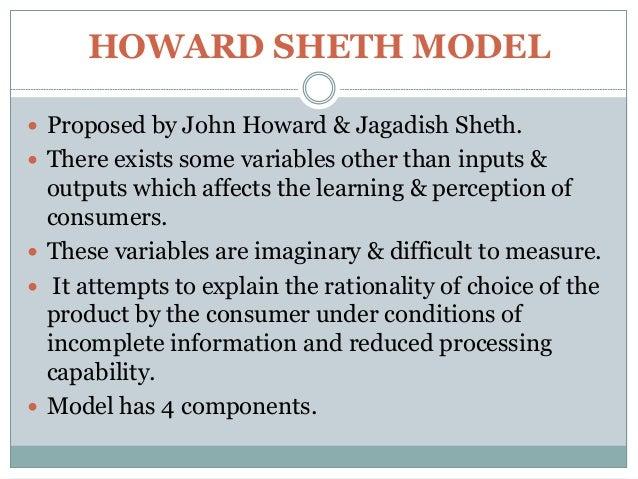 Howard Sheth Model of Consumer Behavior