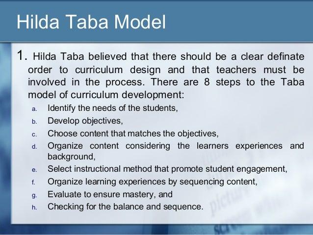 Models of curriculum.