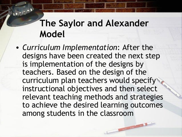 saylor and alexander curriculum model