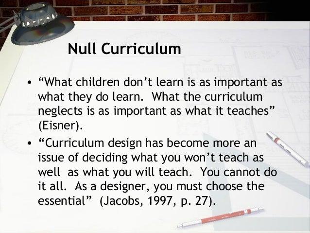 define null curriculum