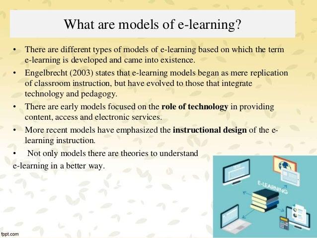 Models of e-learning Slide 2