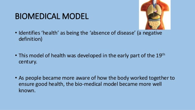biomedical and social models of health The social model of disability proposes that what makes someone disabled is not their medical condition, but the attitudes and structures of society.