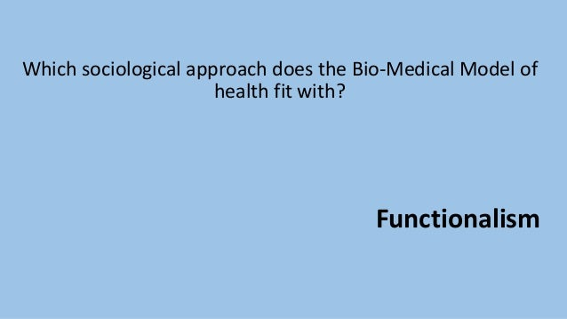 sociomedical model of health definition