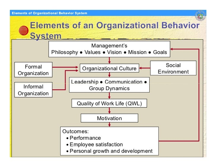 Organisational behaviour an overview of various