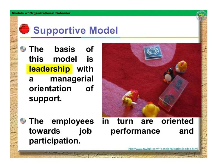 Models of Organizational Behavior              The basis of          this model is          leadership with          a    ...