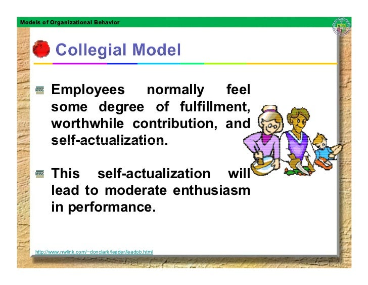 Models of Organizational Behavior               Employees       normally feel           some degree of fulfillment,       ...