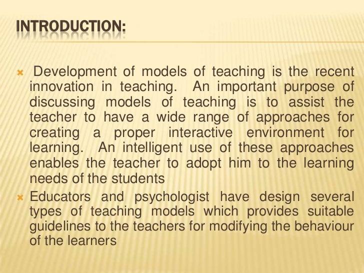 Models of teaching ppt