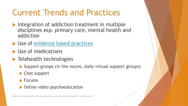 Models Of Treatment Addiction Counselor Training Series