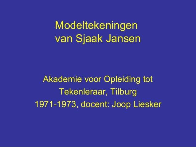 Modeltekeningen     van Sjaak Jansen  Akademie voor Opleiding tot     Tekenleraar, Tilburg1971-1973, docent: Joop Liesker