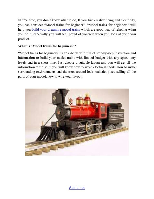 model trains for beginners ebook