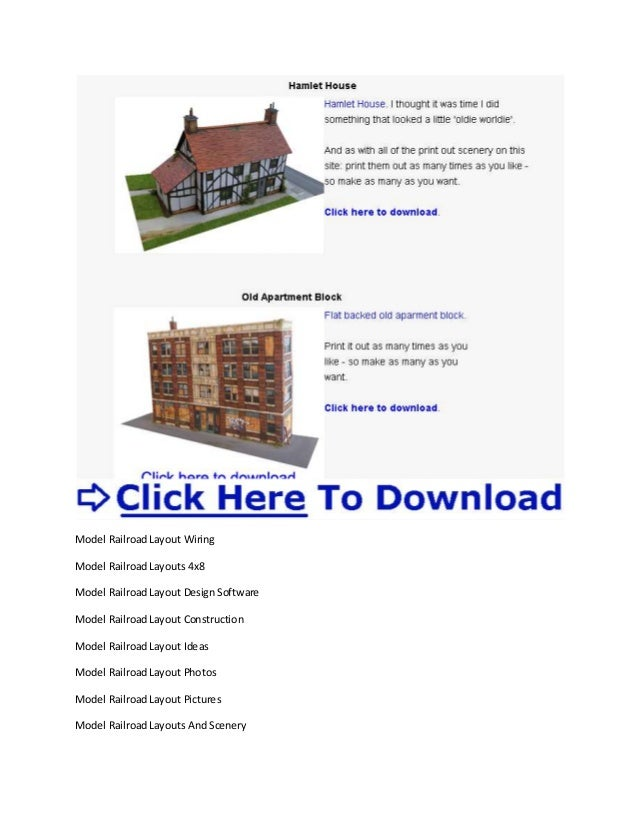 Model Train Layout Materials Model Railway Scenery Free Downloads