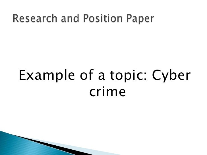 computer crime research proposal The computer crime research center was created in 2001 to conduct research  in legal criminal and criminological problems of cybercrime with the purpose to.