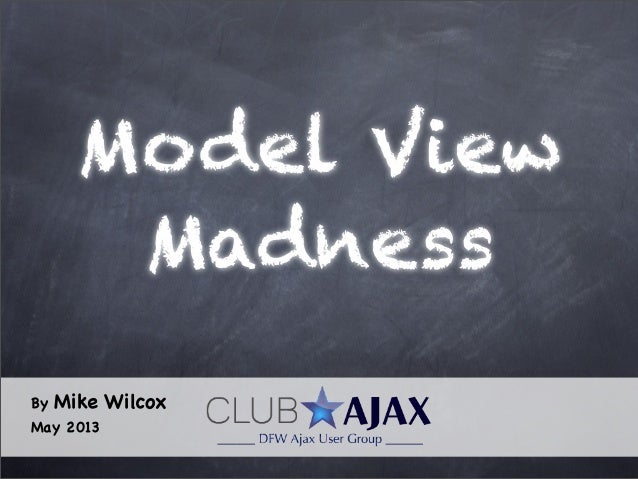 Model ViewMadnessBy Mike WilcoxMay 2013