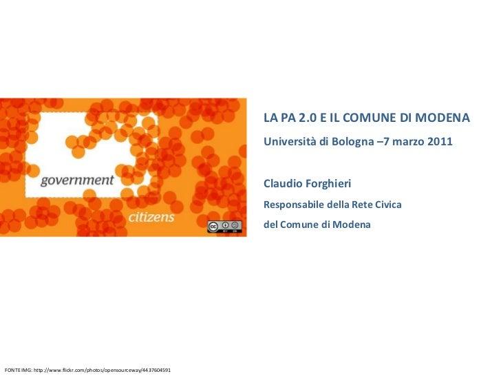 Claudio Forghieri: l'E-goverment