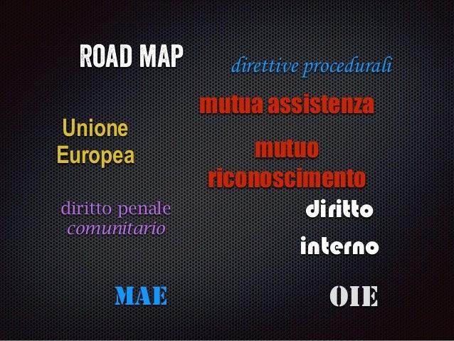 Road map Unione Europea diritto penale comunitario diritto interno direttive procedurali mutua assistenza mutuo riconoscim...