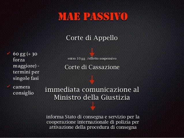 (Segue) cause di rifiuto (art. 18) dd ne bis in idem (già giudicata) prescrizione in Italia di reato o pena pendente proce...