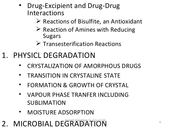 • Drug-Excipient and Drug-Drug      Interactions          Reactions of Bisulfite, an Antioxidant          Reaction of Am...