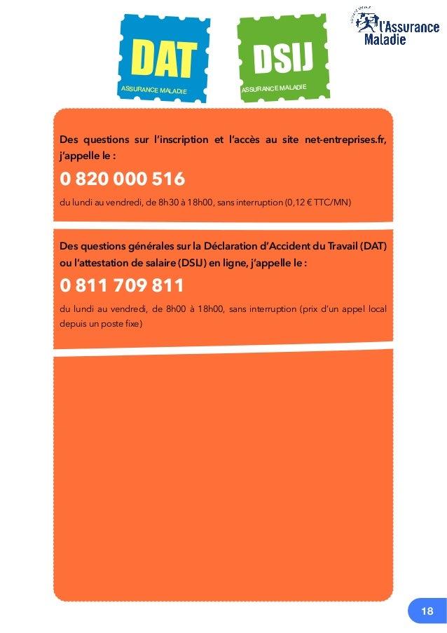 Mode Operatoire Declaration Des Salaires Ij Accident Du Travail
