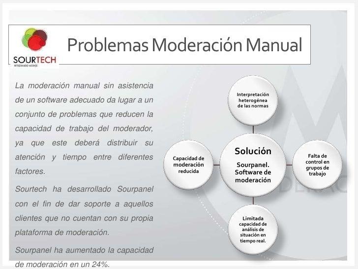 Problemas Moderación Manual<br />La moderación manual sin asistencia de un software adecuado da lugar a un conjunto de pro...