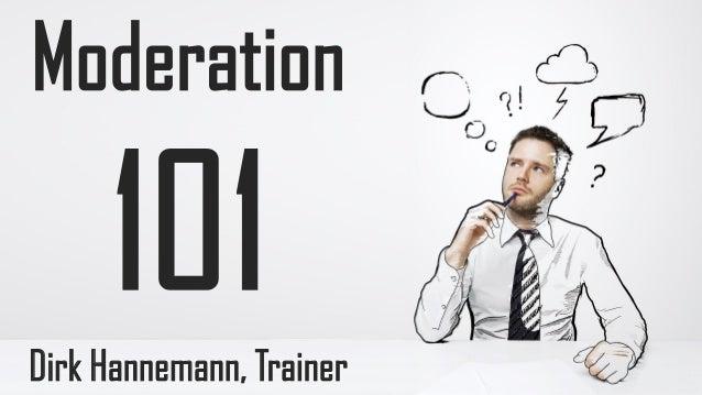 Moderation  Dirk Hannemann, Trainer