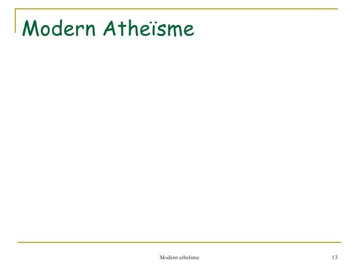 Modern Atheïsme