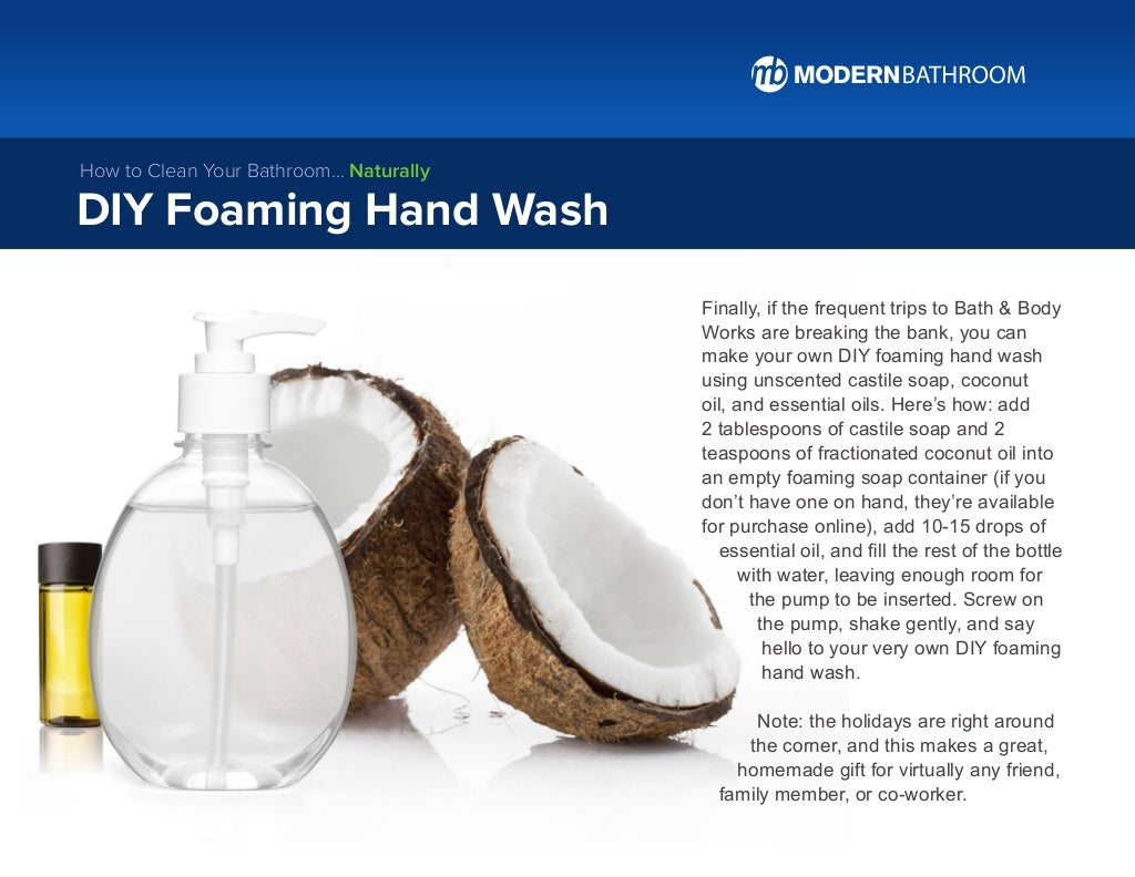 Finally, if the frequent trips to Bath & Body Works are breaking the bank, you can make your own DIY foaming hand wash usi...