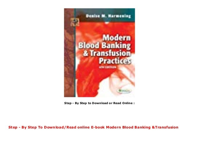 modern blood banking and transfusion practices pdf free download