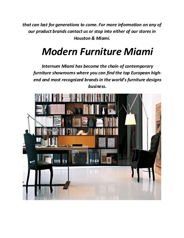 Internum modern furniture in miami for Modern furniture miami