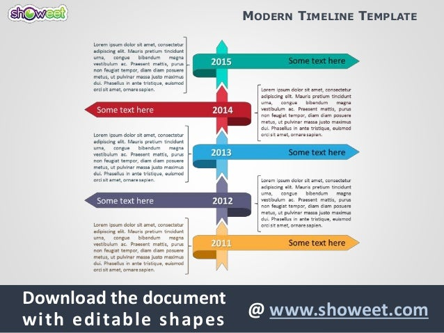 Modern timeline template for powerpoint modern timeline template download the document with editable shapes showeet free creative powerpoint toneelgroepblik Gallery