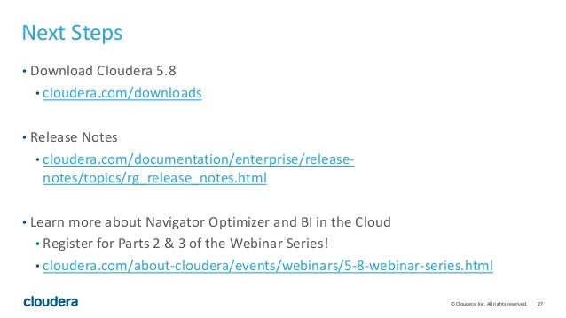 Building a Modern Analytic Database with Cloudera 5 8