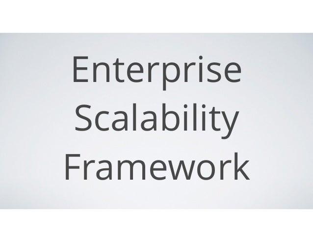 Enterprise Scalability Framework